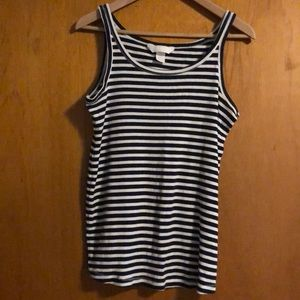 H&M maternity tank, navy and white stripes